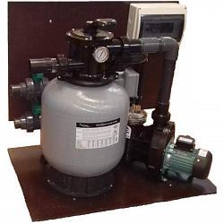 Cтенд фильтрации бассейна до 20 м.куб. с подогревом от электричества 3кВт (220В)